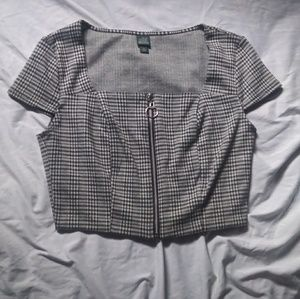 Wild Fable gingham/plaid crop top